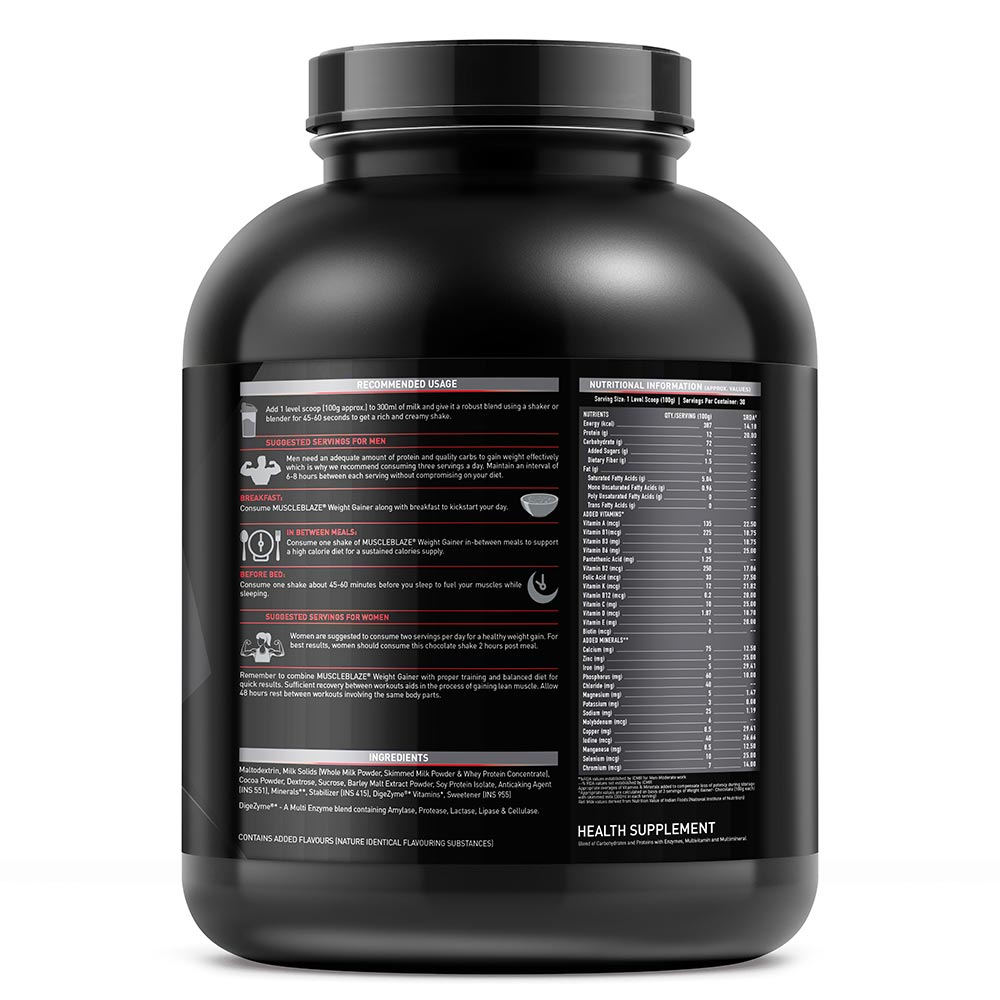 Muscleblaze Mb Weight Gainer 3 Kg 6 6 Lb Chocolate