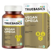 TrueBasics Vegan Omega 870mg of Vegetarian Omega Fatty Acids,  90 softgels