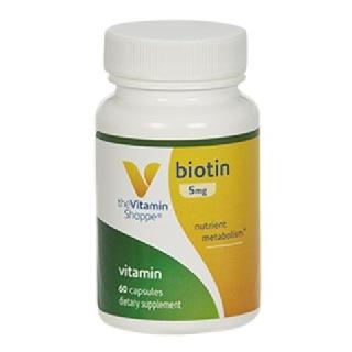 The Vitamin Shoppe Biotin (5 Mg),  Unflavoured  120 Capsules