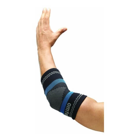 Omtex Superior Elastic Elbow Support,  Black  Small