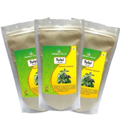 Herbal Hills Tulsi Powder (Pack of 3),  0.1 kg