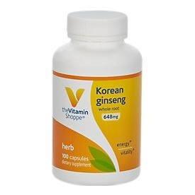 The Vitamin Shoppe Korean Ginseng 648 mg,  100 capsules