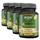 WOW Garcinia Plant Extract Pack Of 4,  90 Veggie Capsule(s)