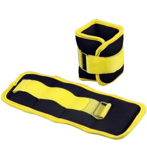 B Fit USA Ankle/Wrist Weight (AB3742),  Yellow & Black  0.5kg*2