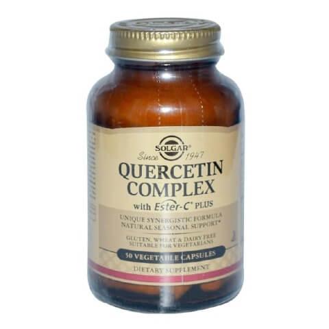 Solgar Quercetin Complex with Ester-C Plus,  50 veggie capsule(s)