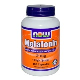 Now Melatonin (3mg),  180 Capsules