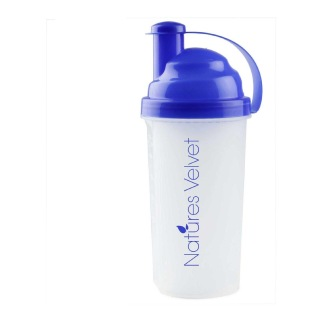 Natures Velvet Shaker,  White & Blue  600 Ml