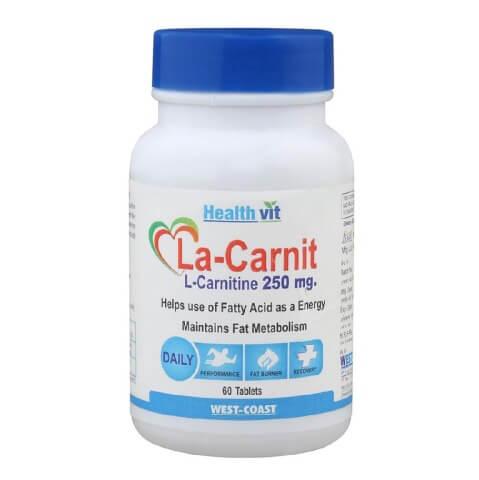 Healthvit La-Carnit  L-Carnitine (250mg),  60 capsules  Unflavoured