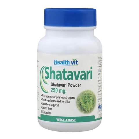 Healthvit Shatavari Powder (250mg),  60 capsules