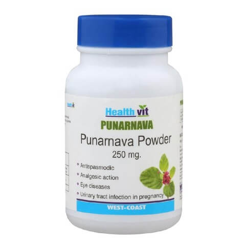 Healthvit Punarnava Powder (250 mg),  60 capsules