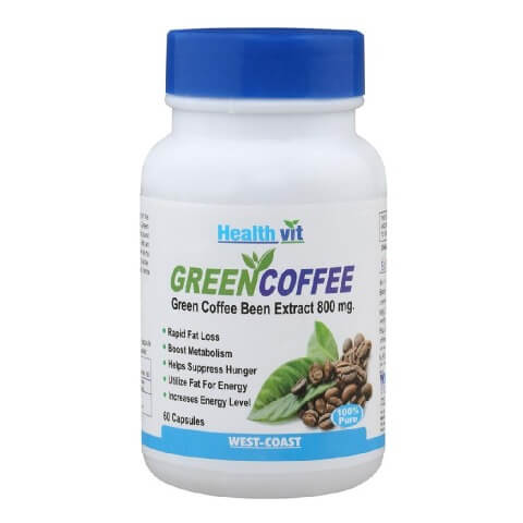 Healthvit Green Coffee Bean Extract (800mg),  60 capsules