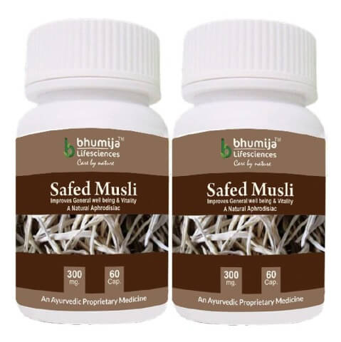 Bhumija Safed Musli (Pack of Two),  60 capsules