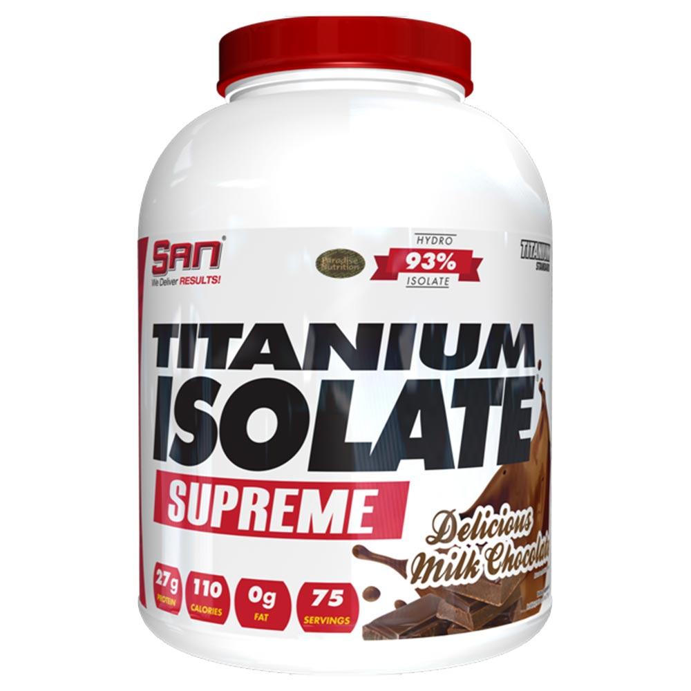 SAN Titanium Isolate Supreme,  5 lb  Delicious Milk Chocolate