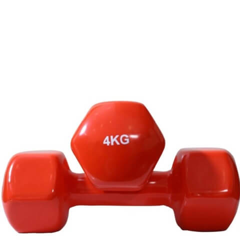 B Fit USA Vinyl Dumbbell (6034),  Red  4 kg