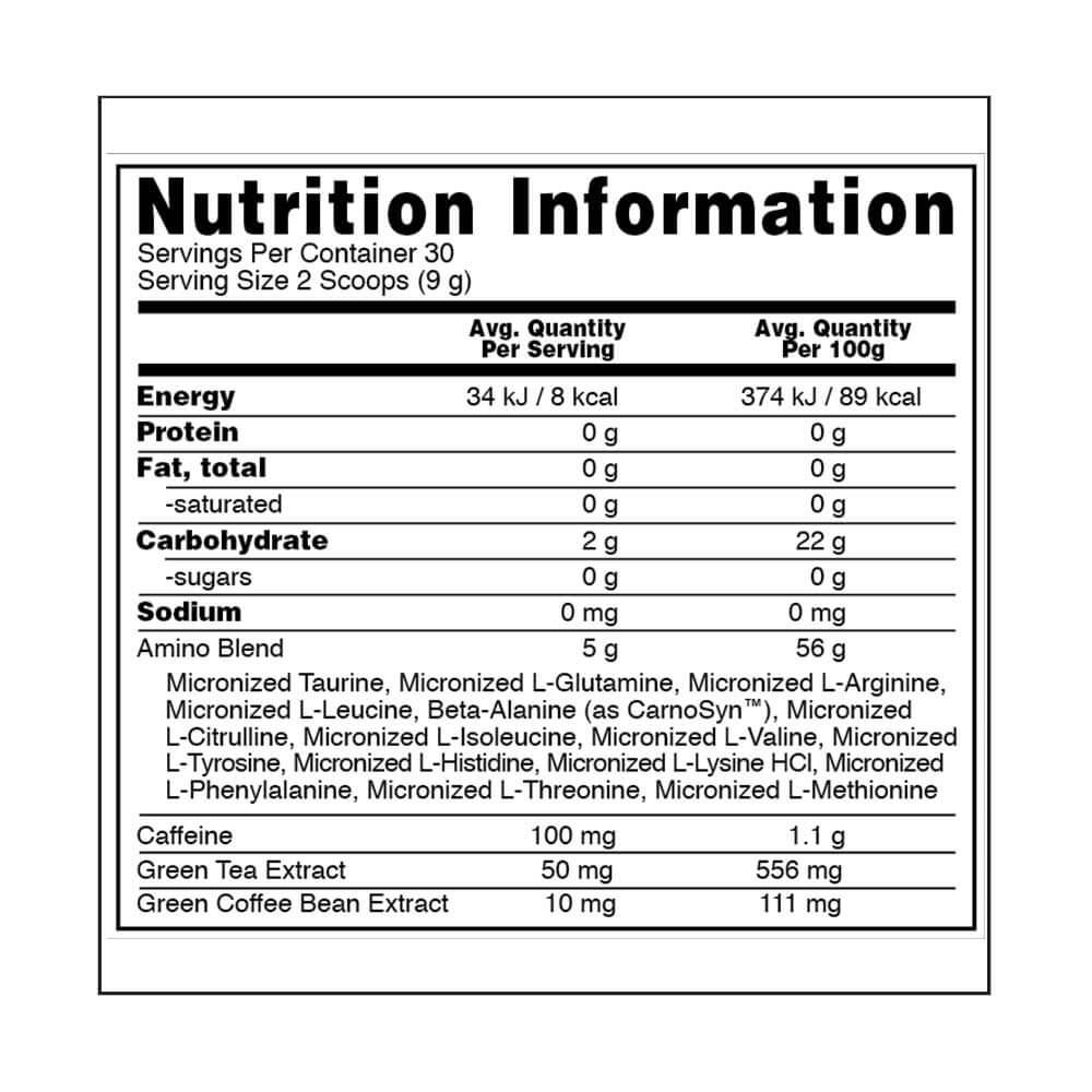 supplement - ON (Optimum Nutrition) Essential Amino Energy,  0.6 lb  30 Servings  Orange