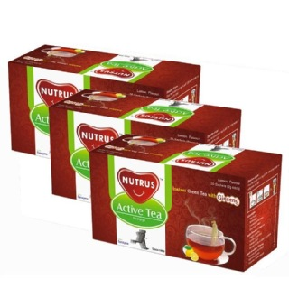 Nutrus Active Tea (Pack of 3),  20 sachets/pack  Natural