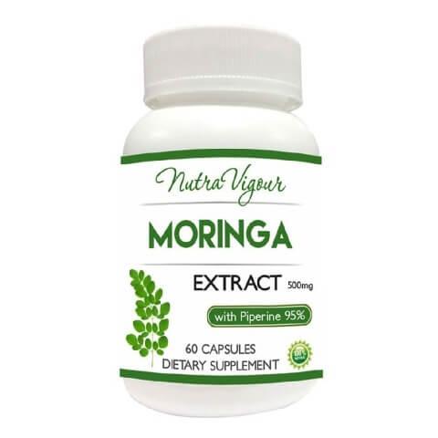 Nutra Vigour Moringa Extract (500mg),  60 capsules