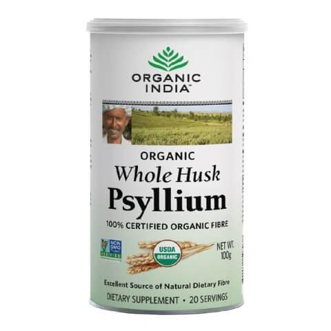 Organic India Whole Husk Psyllium,  100 g