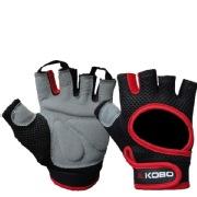 KOBO Gym Gloves (WTG-03),  Red & Black  Medium
