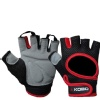 KOBO Gym Gloves (WTG-03),  Red & Black  Medium