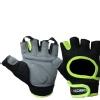 KOBO Gym Gloves (WTG-03),  Florocent Green & Black  Large