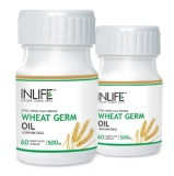 INLIFE Wheat Germ Oil (Pack Of 2),  60 Capsules