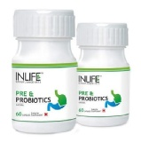 INLIFE Pre & Probiotics (Pack Of 2),  60 Capsules
