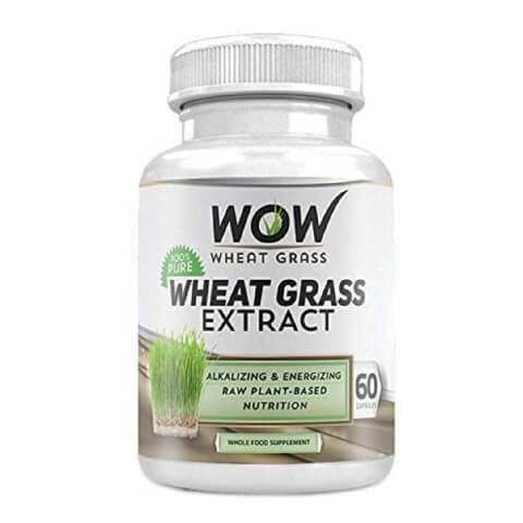 WOW Wheat Grass Extract,  60 capsules