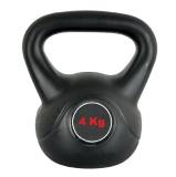 Universal Fitness Cement Kettlebell,  Black  4 Kg
