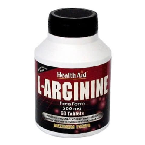 HealthAid L-Arginine (500 mg),  60 tablet(s)