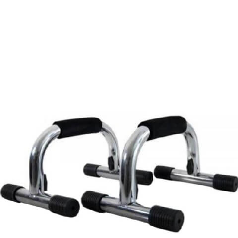 KOBO Chrome Plated Push Up Bar Foldable,  Black & Silver  Free Size