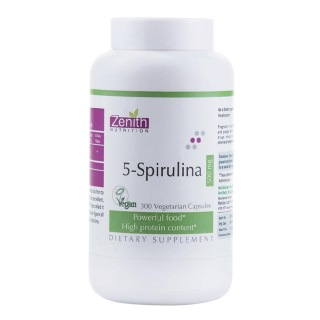 Zenith Nutrition 5-Spirulina (500mg),  300 capsules