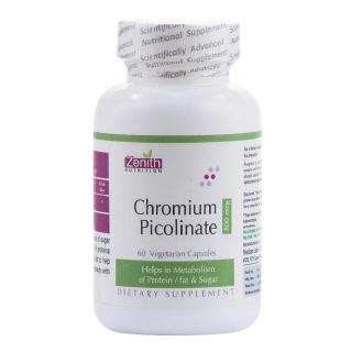 Zenith Nutrition Chromium Picolinate (800 mcg),  60 veggie capsule(s)