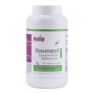 Zenith Nutrition Rersveratrol, Grapeseed Ext & Red Wine Extract,  240 capsules
