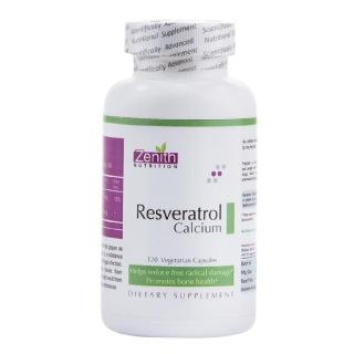Zenith Nutrition Resveratrol Calcium (100 mg),  120 capsules