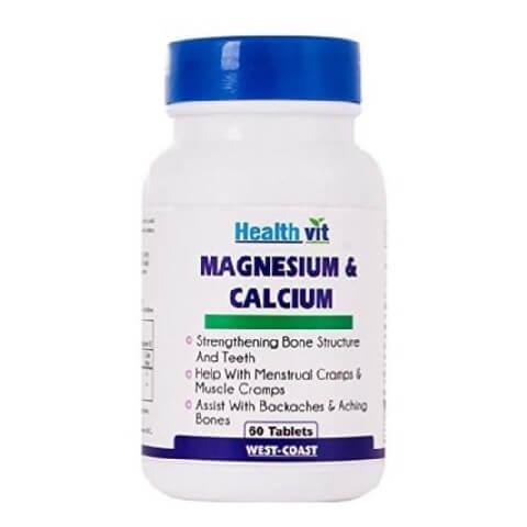 Healthvit Magnesium & Calcium,  60 tablet(s)  Unflavoured