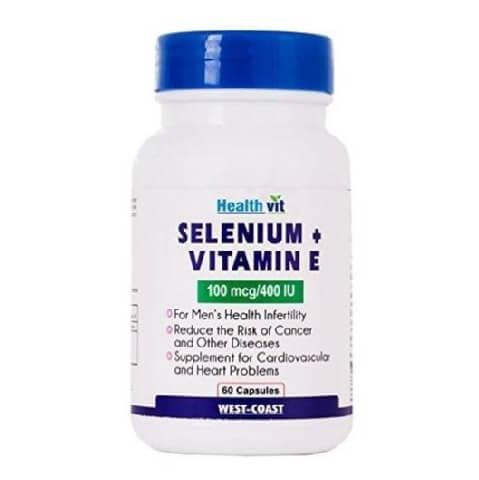 Healthvit Selenium + Vitamin E (100 mcg/400 IU),  60 capsules