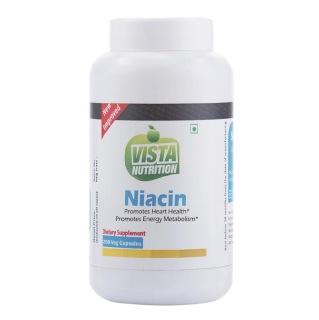Vista Nutrition Niacin,  Unflavoured  200 veggie capsule(s)