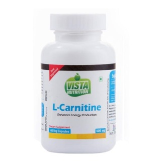 Vista Nutrition L-Carnitine (500 mg),  60 veggie capsule(s)  Unflavoured
