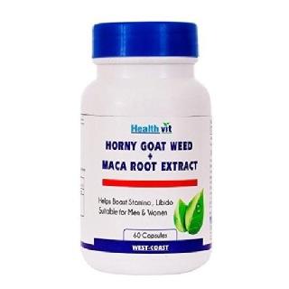 Healthvit Horny Goat Weed + Maca Root Extract (800 mg),  60 capsules