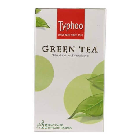 Typhoo Green Tea,  25 Piece(s)/Pack  Unflavoured