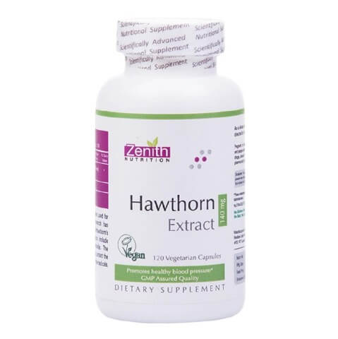 Zenith Nutrition Hawthorn Extract (140 mg),  120 capsules