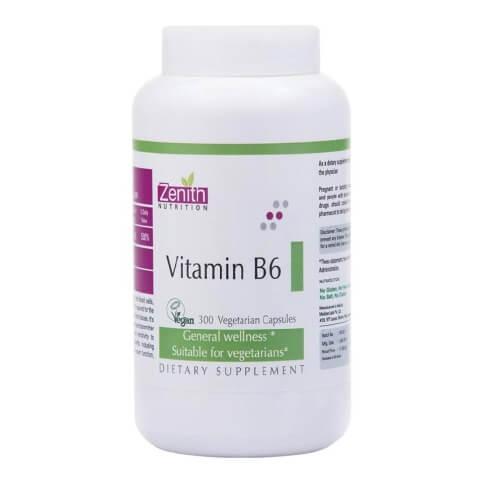 Zenith Nutrition Vitamin B6,  Unflavoured  300 veggie capsule(s)