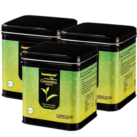 Healthbuddy Premium Darjeeling Green Tea,  0.1 kg  Unflavoured  - Pack of 3
