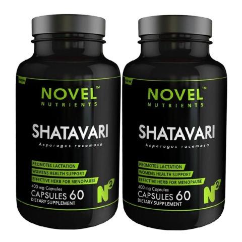 Novel Nutrients Shatavari (400 mg),  60 capsules  - Pack of 2