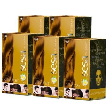 Sesa Hair Serum, 50 ml Strong & Silky Hair - Pack of 5