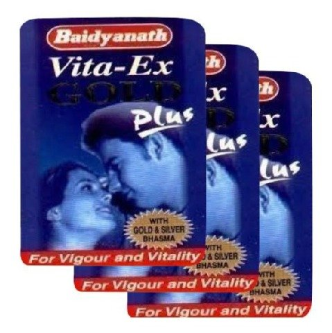 Baidyanath Vita-Ex Gold Plus, 10 capsules - Pack of 3