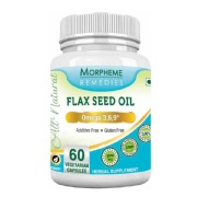 Morpheme Remedies Flax Seed Oil (500 mg),  60 veggie capsule(s)
