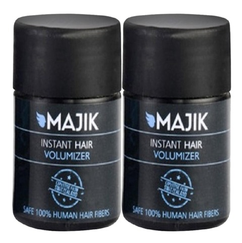 Majik Instant Hair Volumizer, Medium Brown 7 g - Pack of 2