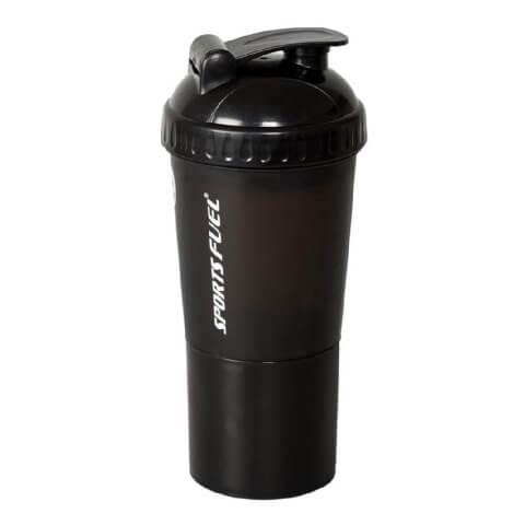 Sports Fuel Protein Super Shaker,  Black  600 ml